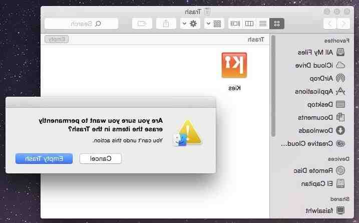 How uninstall software on mac